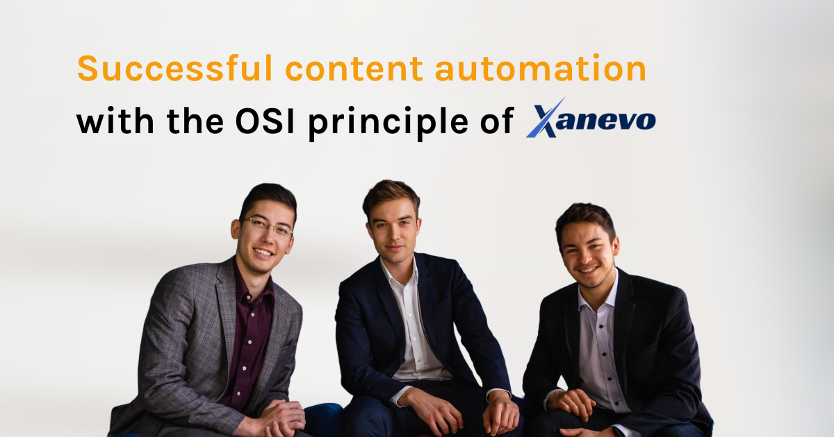 Successful content automation with the OSI principle