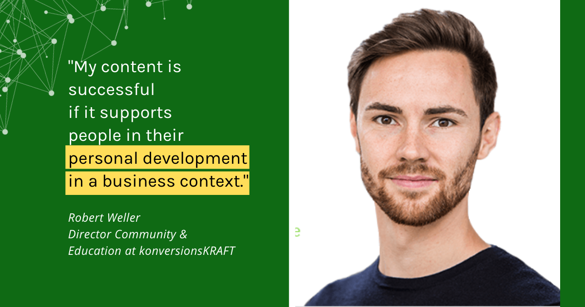 Tips for a successful content experience - Interview with Robert Weller