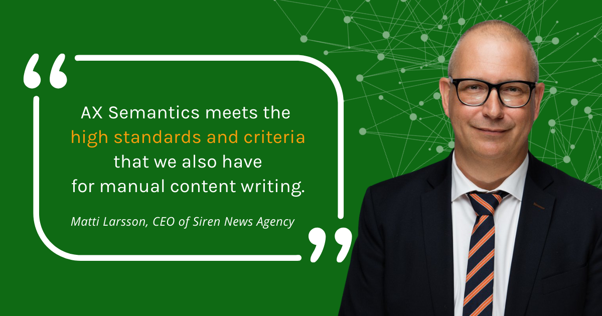 Interview with CEO of Siren News Agency about automated content generation